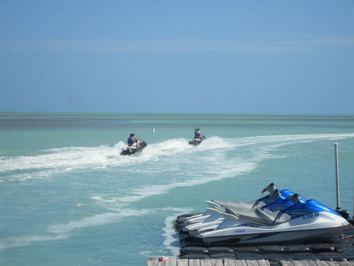jet ski in the keys